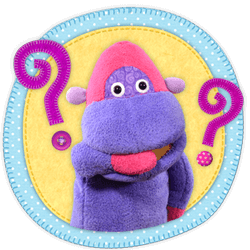 FAQ Button - Flop from Tea Time Monkeys