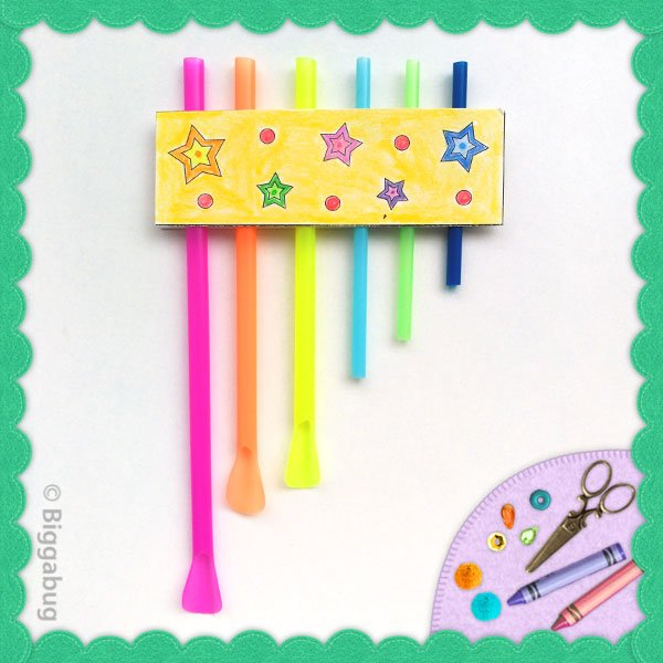 drinking straw pan pipes