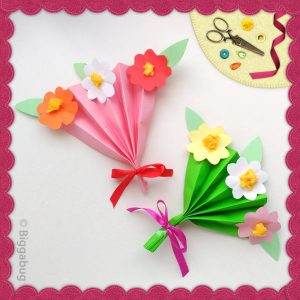 flower fan craft