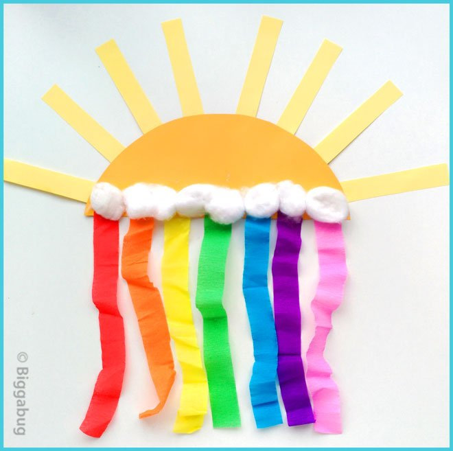 sun and rainbow craft for preschoolers step4