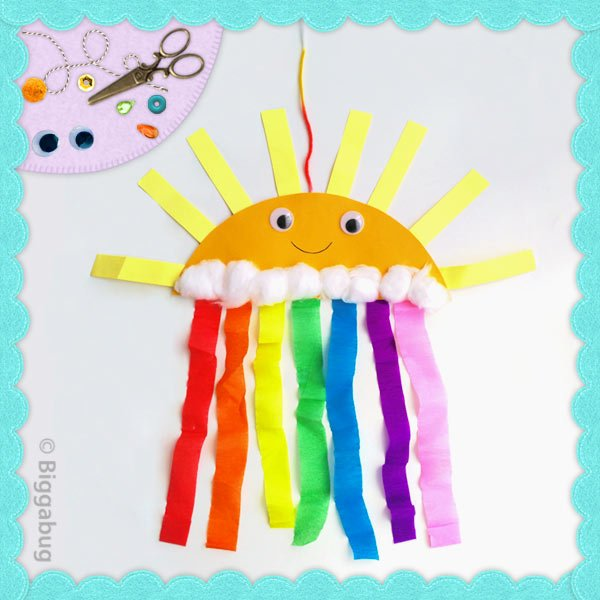 Smiley Sun and Rainbow Craft