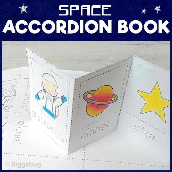 space accordion book