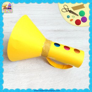 Cardboard Tube Trumpet Craft - Tea Time Monkeys