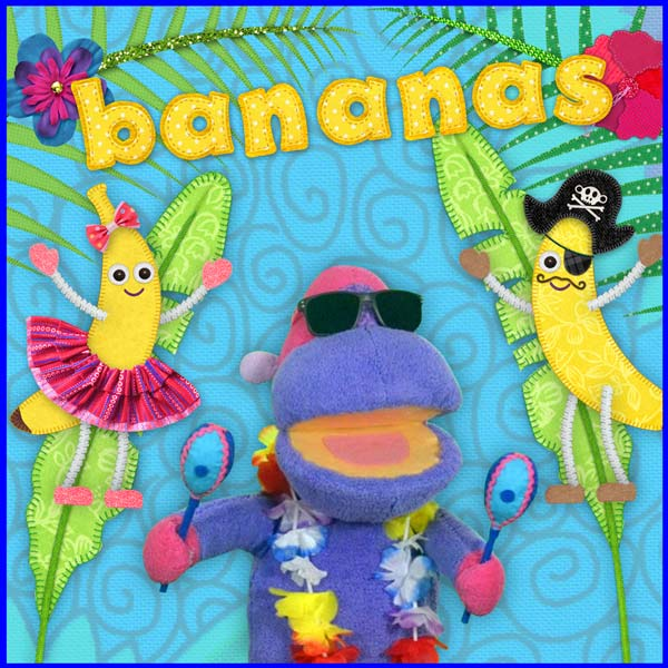 Bananas fun fruit song for kids - Tea Time Monkeys