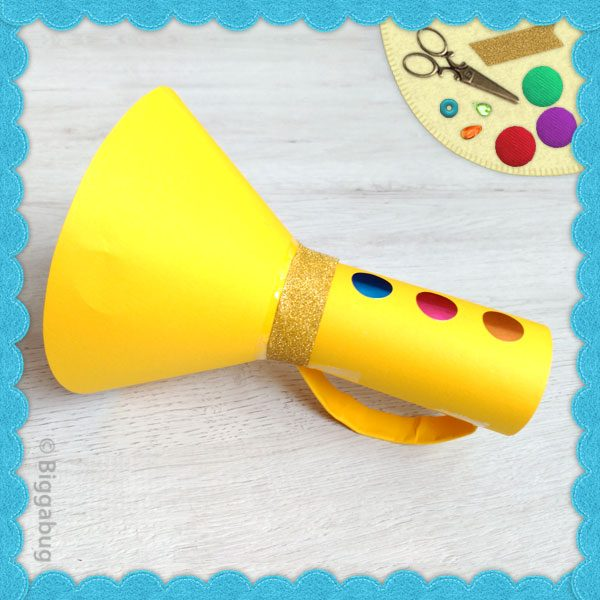 Cardboard Tube Toy Trumpet Craft
