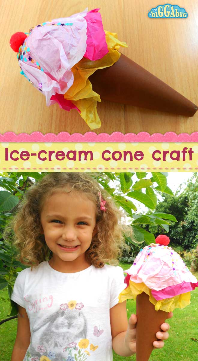 Ice-cream cone craft - Play Food - Tea Time Monkeys