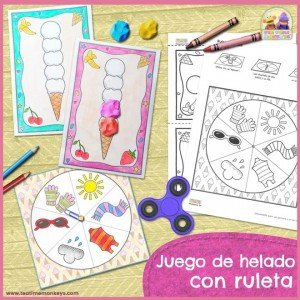 Juego de Helado con Ruleta - Imprimible - Tea Time Monkeys