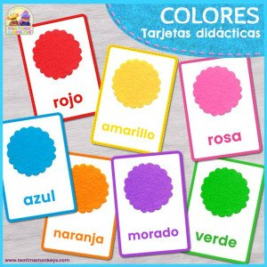 Colores Tarjetas Didácticas - Imprimible Gratis - Tea Time Monkeys