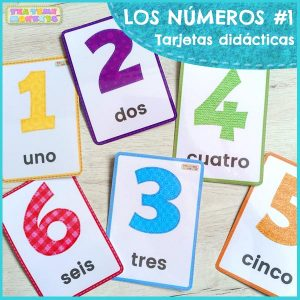 tarjetas didacticas numeros tea time monkeys