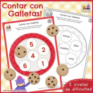 Contar con Galletas - Imprimible Gratis - Tea Time Monkeys