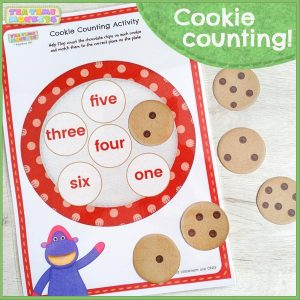 Cookie counting tea time monkeys