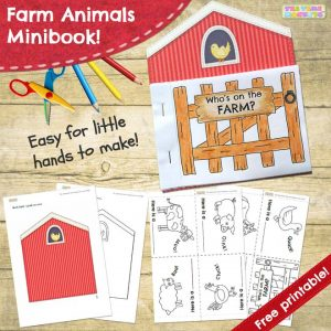 Farm animals minibook - Tea Time Monkeys
