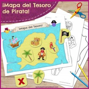 Mapa del tesoror - Imprimible Gratis - Tea Time Monkeys