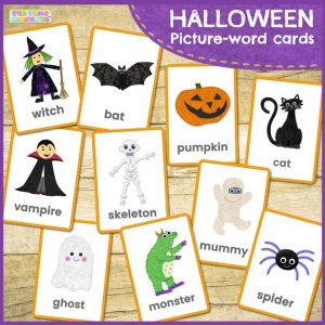 Halloween flashcards - Tea Time Monkeys