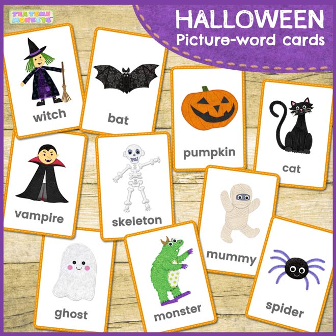 HALLOWEEN picture-word flashcards