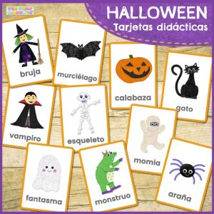 Tarjetas didácticas de Halloween gratis - Tea Time Monkeys