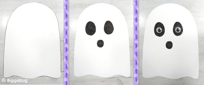 Spooky Ghost Halloween craft - step 1 - Tea Time Monkeys