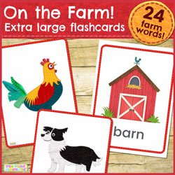 On the Farm - Extra Large Flashcard Pack - Tea Time Monkeys
