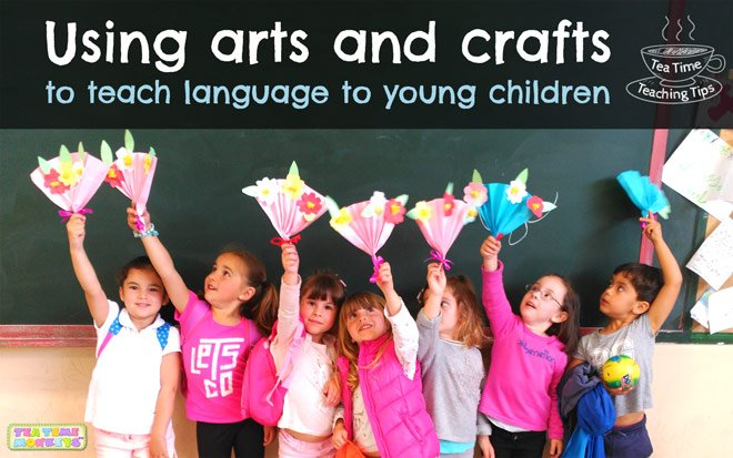 Using arts and crafts to teach language to young children - Tea Time Monkeys