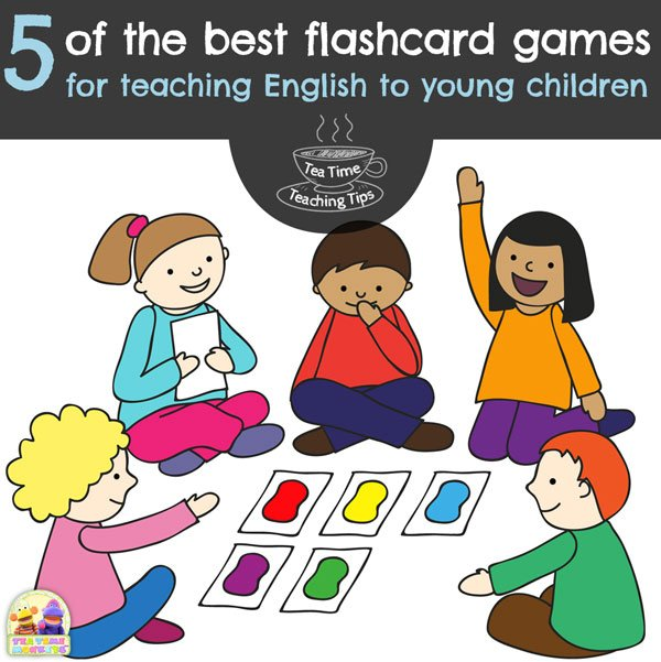 Five of the best flashcard games for teaching English to young children - Tea Time Monkeys