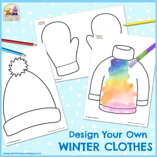 Design Your Own Winter Clothes Templates