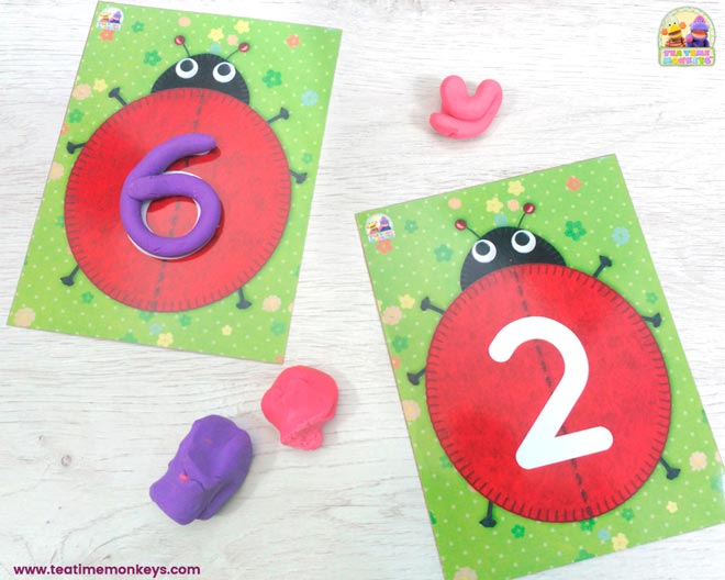 Ladybird Friends - Play Dough Mats - Tea Time Monkeys