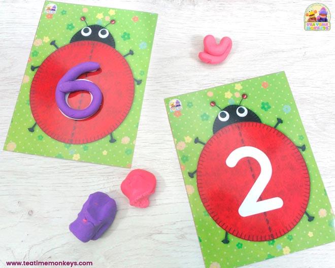 Ladybird Friends - Play Dough Mats - Tea Time Monkeys