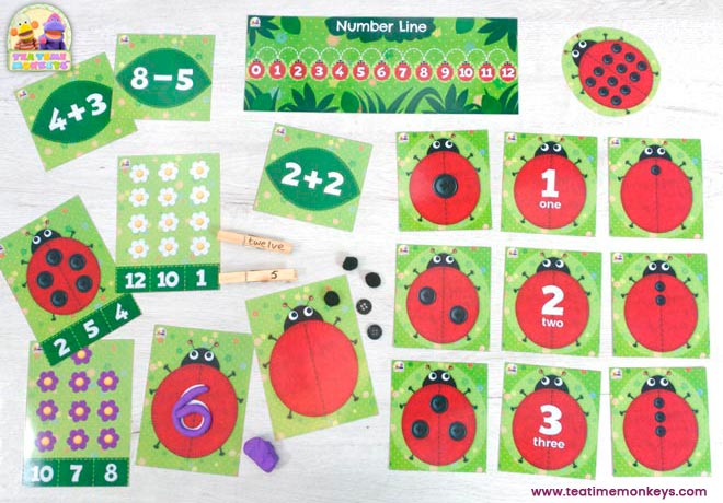 Ladybird Friends - Early Maths Games& Activities Pack - Tea Time Monkeys