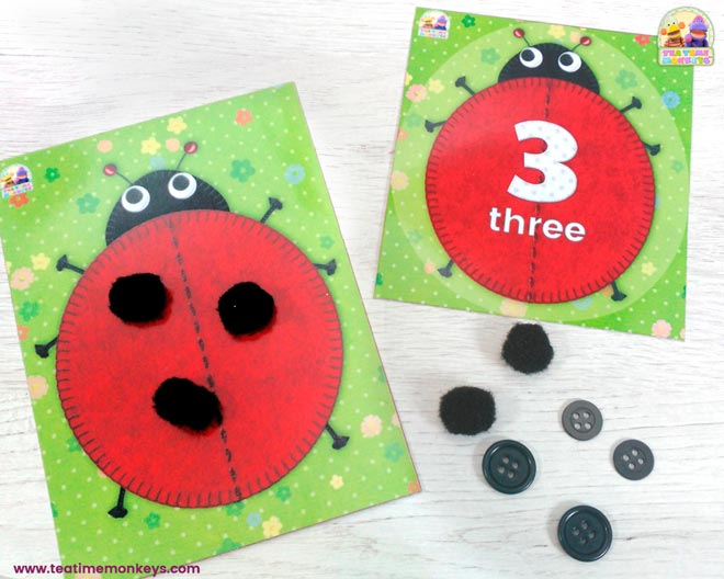 Ladybird Friends - Early Maths Games & Activities Pack - Tea Time Monkeys