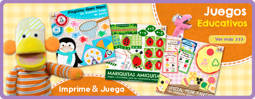 IMPRIME Y JUEGA - Juegos Educacionales - Tea Time Monkeys