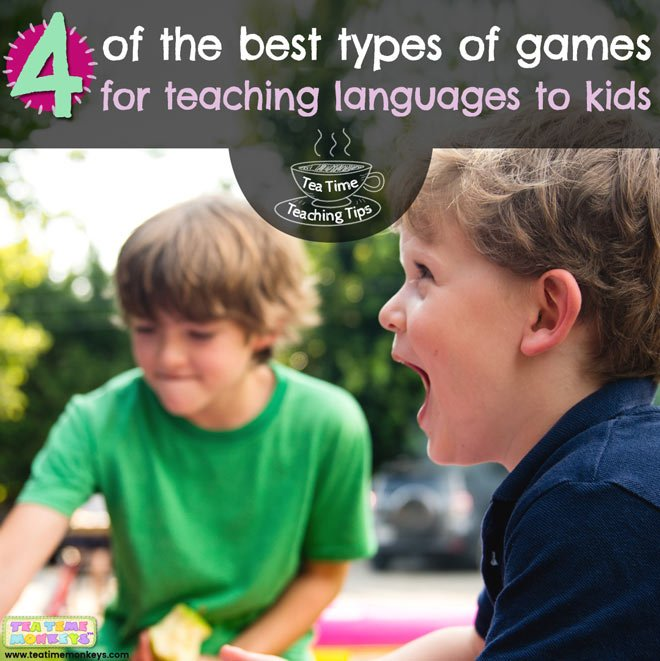 4 of the best types of games for teaching languages to kids - Tea Time Monkeys