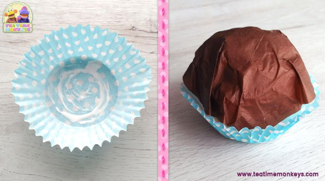Play food - easy cupcake craft step 2 - Tea Time Monkeys