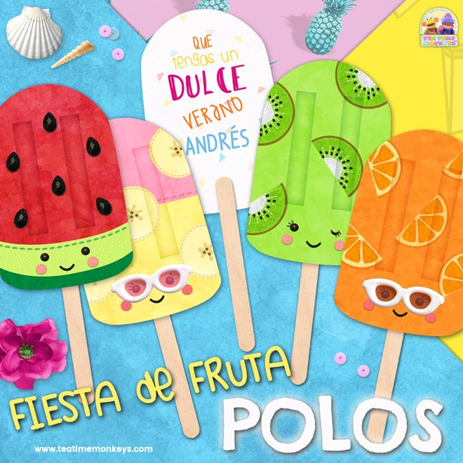 Polos de Helado Imprimibles - Tea Time Monkeys