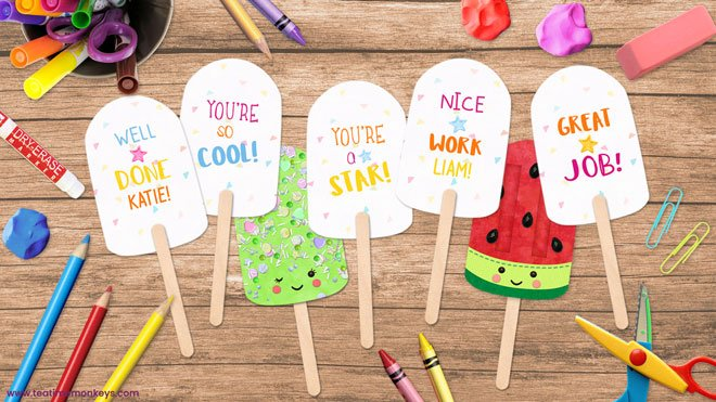 Printable Popsicle Ice Pops - Tea Time Monkeys