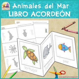 Animales de Mar - Libro Acordeón - Tea Time Monkeys