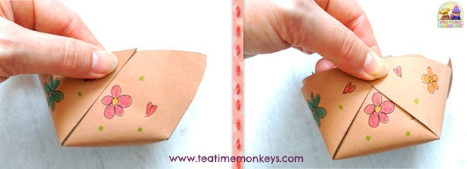 How to fold paper basket - Tea Time Monkeys