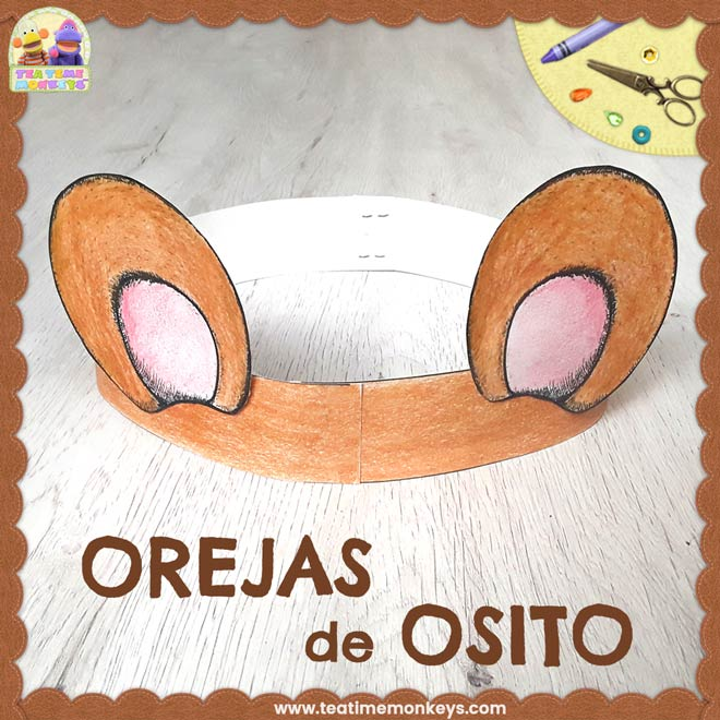 Orejas De Osito Manualidad Tea Time Monkeys