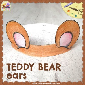 Teddy Bear Ears Craft - Tea Time Monkeys
