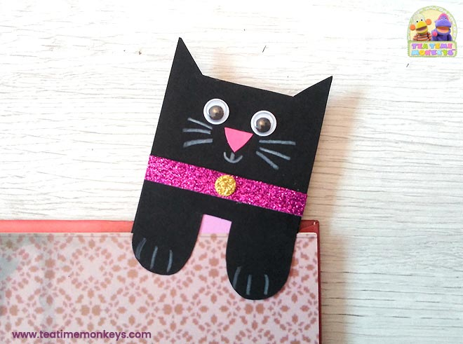 Cat Bookmark Craft - Halloween version - Tea Time Monkeys