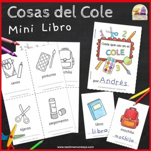 Cosas del Cole Mini Libro - Tea Time Monkeys