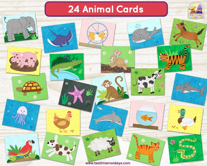 Find My Home! Animal Sorting game - Tea Time Monkeys