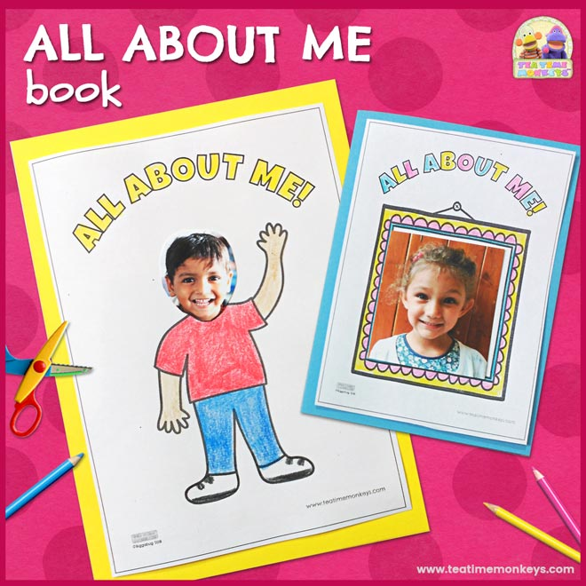 All About Me Book - Free Printable - Tea Time Monkeys