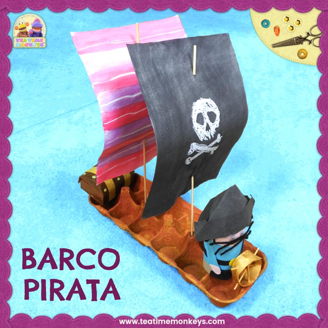 Barco Pirata Manualidad - Tea Time Monkeys