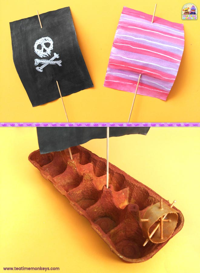 Pirate Ship Craft - Step 4- Tea Time Monkeys
