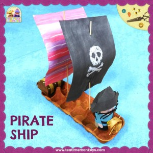 Pirate Ship Craft - Tea Time Monkeys