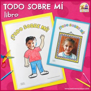 Todo Sobre Mí - Libro Imprimible Gratis - Tea Time Monkeys