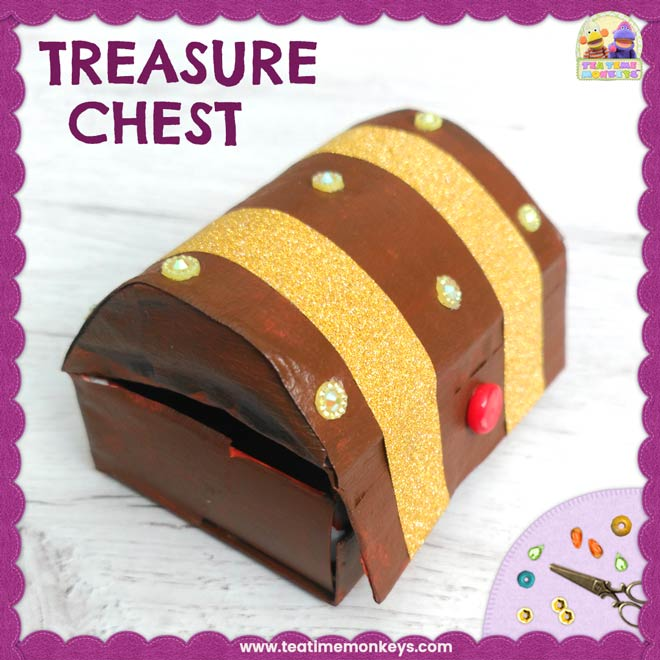 Matchbox Treasure Chest Craft - Tea Time Monkeys