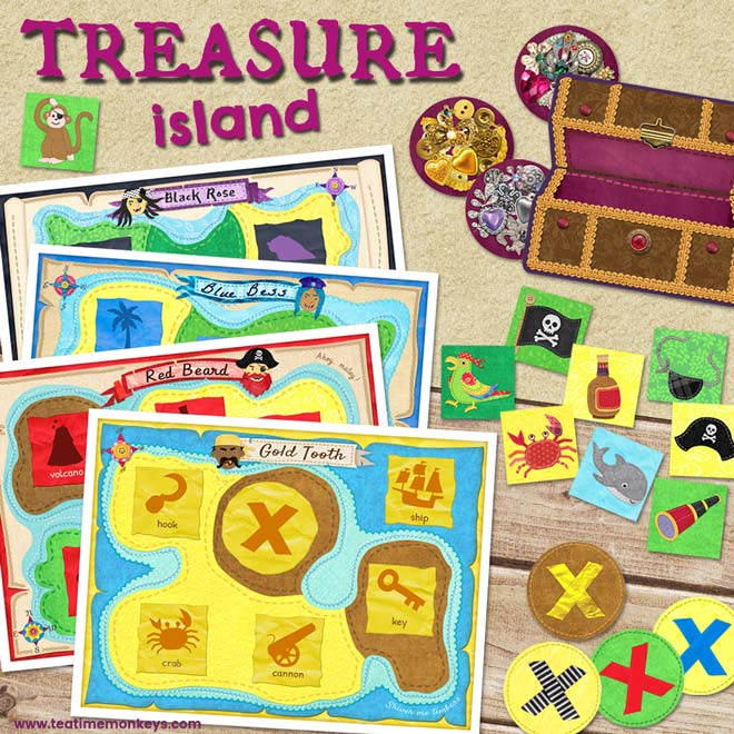 Treasure Island Pirate Game - Tea Time Monkeys