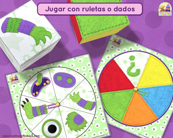La Fabrica De Monstruos - Juego No Competitivo de Dado y Ruleta - Tea Time Monkeys