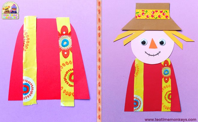 Puppet Scarecrow Craft - Step 3 - Tea Time Monkeys